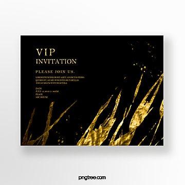 simple gold foil business invitation Template
