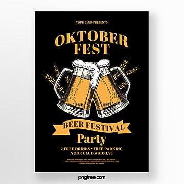 weinleseart oktoberfest plakat Vorlage