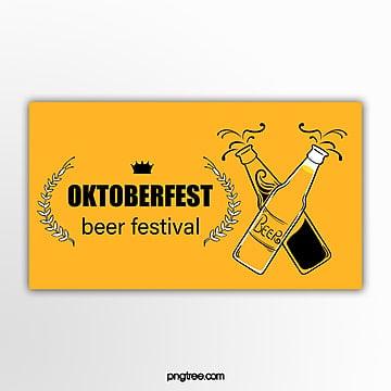 gelbe handgemalte flache minimalistische oktoberfest fahne Vorlage