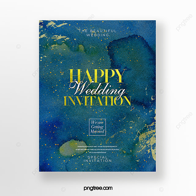 Wedding Invitations High End: High End Luxury Style Watercolor Effect Gold Foil Wedding