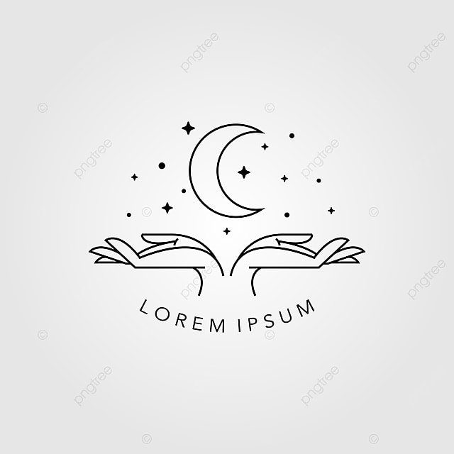 Minimalist Hands And Moon Line Art Symbol Template for Free