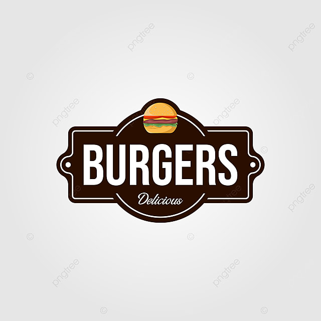 Vintage Burger Logo Or Signs For Food Company Template For