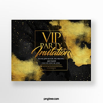 fashion high end luxury vip business meeting invitation Template