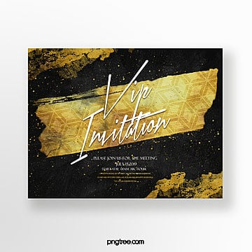fashion luxury business vip gold foil effect invitation Template