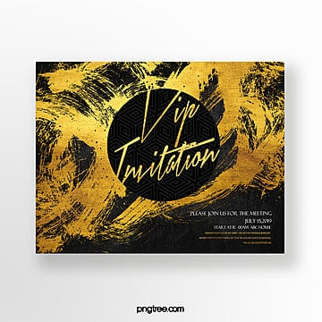 gold foil effect high end fashion luxury vip business invitation Template