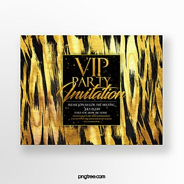 gold foil effect high end luxury fashion business vip invitation Template