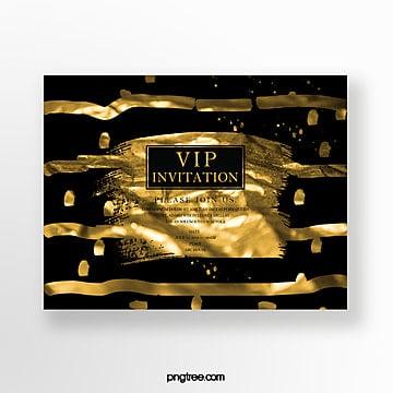 gold foil element high end business invitation Template