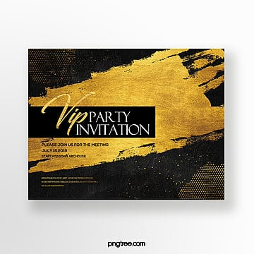 high end fashion luxury abstract gold foil effect business invitation Template