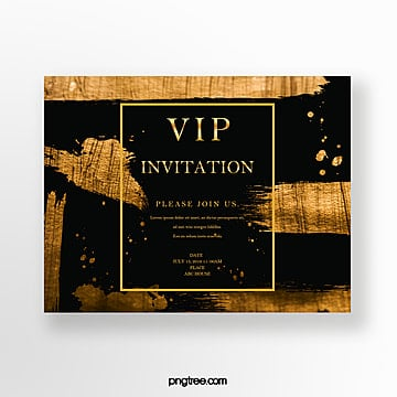luxury black gold business invitation Template