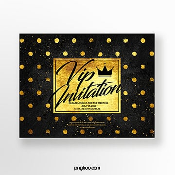 luxury fashion gold spotted business vip fashion invitation Template