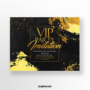 luxury fashion high end gold foil effect vip invitation Template