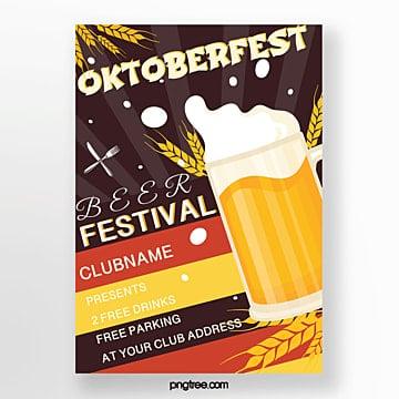 oktoberfest festival feier poster Vorlage