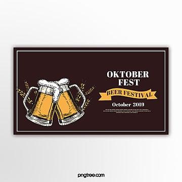 weinleseart oktoberfest fahne Vorlage