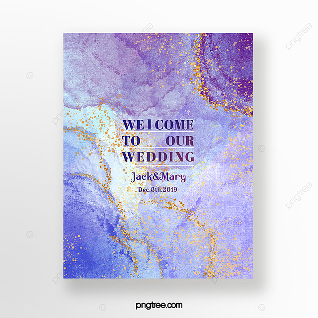 Wedding Invitations High End: Watercolor Smudge Gold Foil Texture High End Wedding