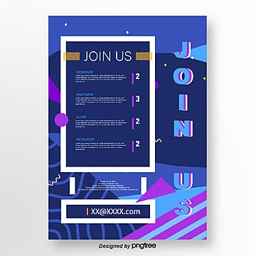 blue corporate recruitment poster Template