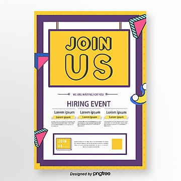 creative memphis corporate recruitment poster Template