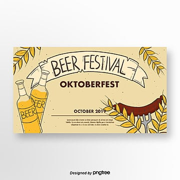 oktoberfest handgezeichnete cartoon banner Vorlage
