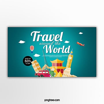 travel theme promotion banner Template