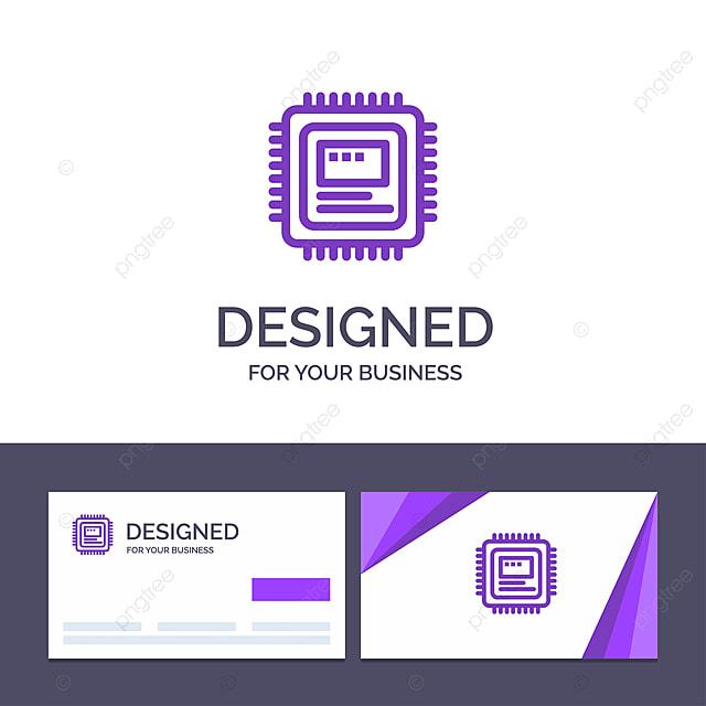 Kreative Visitenkarte Und Logo Vorlage Cpu Vorlage Zum