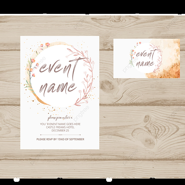 Editable Invitation Card Desig Template For Free Download On