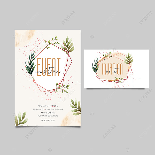 Editable Invitation Card Design Template For Free Download