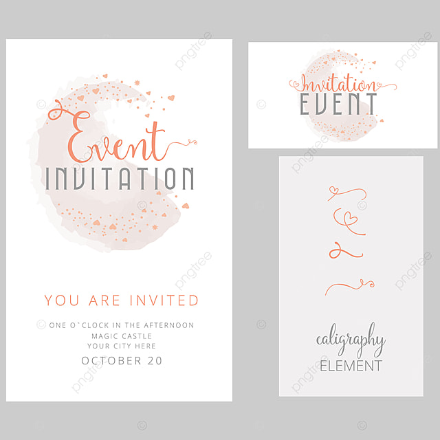 Editable Invitation Card Design With Text Dividers Template