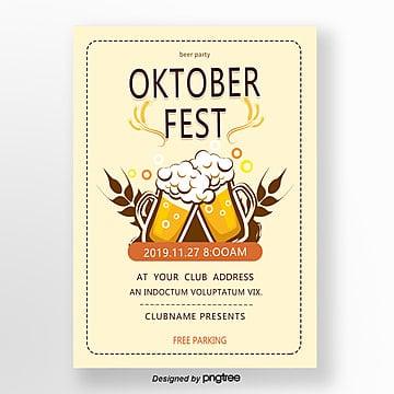 beiges oktoberfest plakat Vorlage