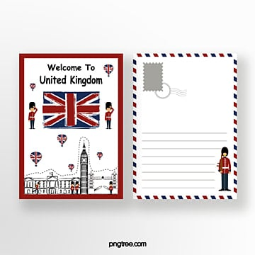 british travel commemorative postcard Template