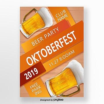 orange bierfestivalplakat Vorlage