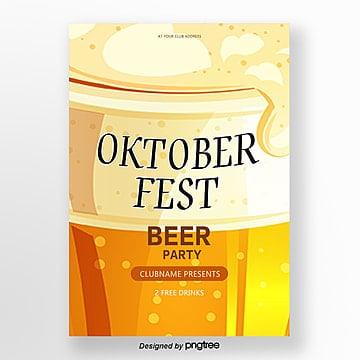 gelbes bier festival poster Vorlage