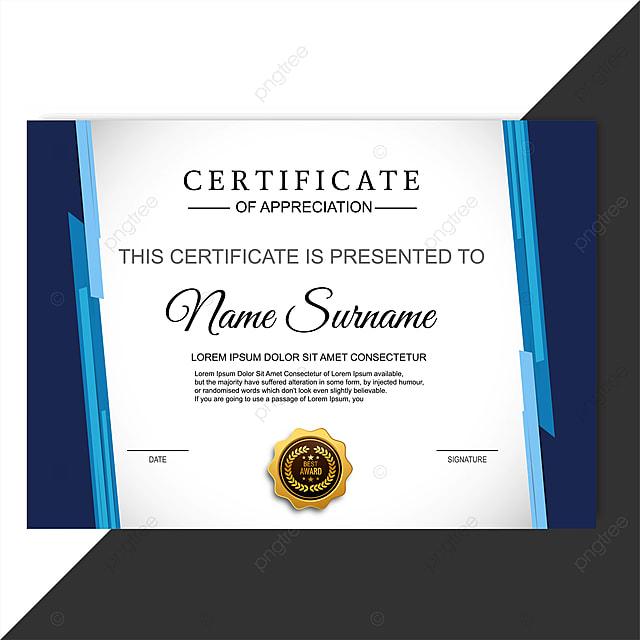 Certificate Of Appreciation Template Design Template For