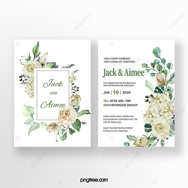 Undangan Pernikahan Bunga Putih Templat Untuk Unduh Gratis Di Pngtree