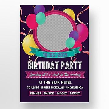 Invitación De Cumpleaños Png Vectores Psd E Clipart Para
