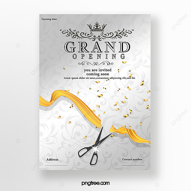 Simple Opening Invitation Card Template For Free Download On