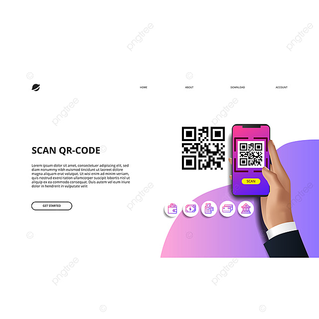 scan qr code for finance online payment cashless society