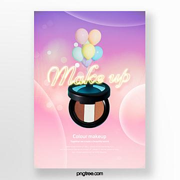 sunset glow gradient neon air powder poster Template