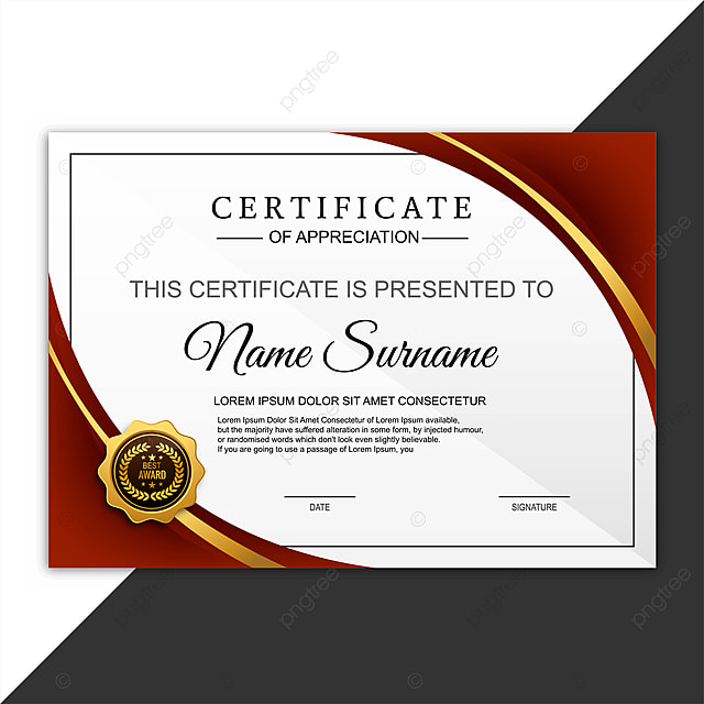 Beautiful Certificate Template Design With Best Award ...