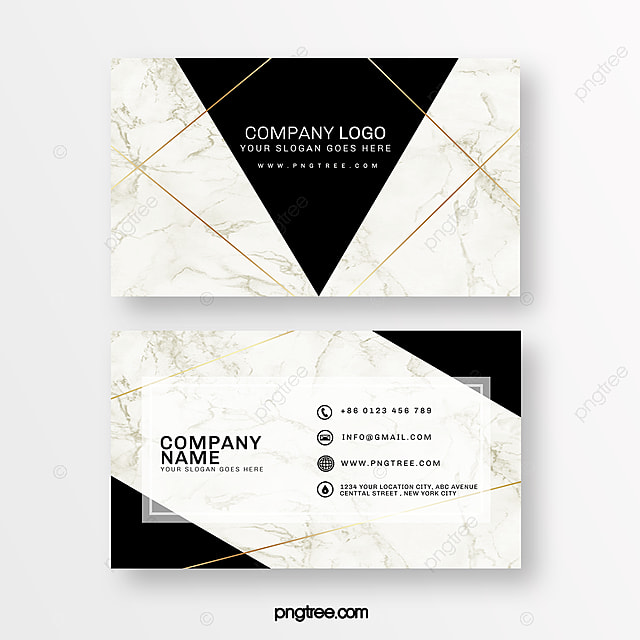 Stylish Marble Background Business Card Template for Free
