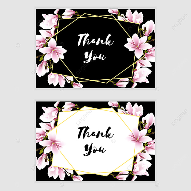 Floral Magnolia Thank You Card Template for Free Download ...