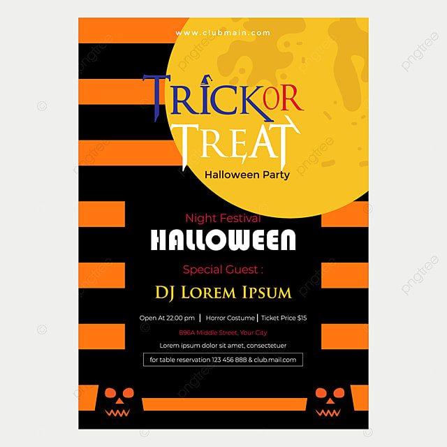 Halloween Flyer Template Free from png.pngtree.com