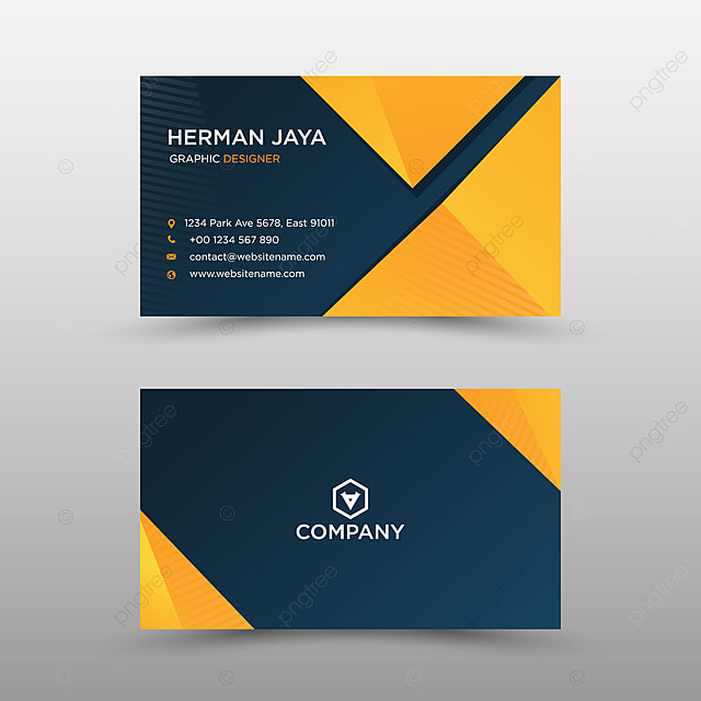 Modern Orange Professional Business Card With A Black