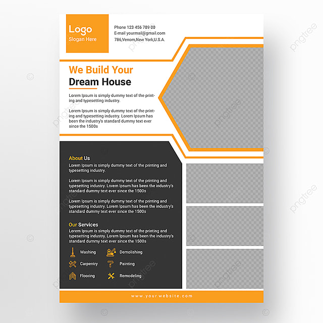 Stylish Construction Flyer Design Template Template For Free