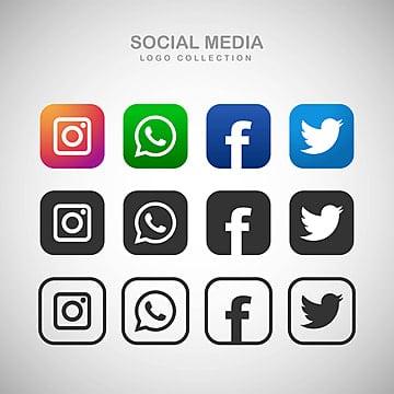 رموز التواصل الاجتماعي Png المتجهات Psd قصاصة فنية تحميل مجاني Pngtree