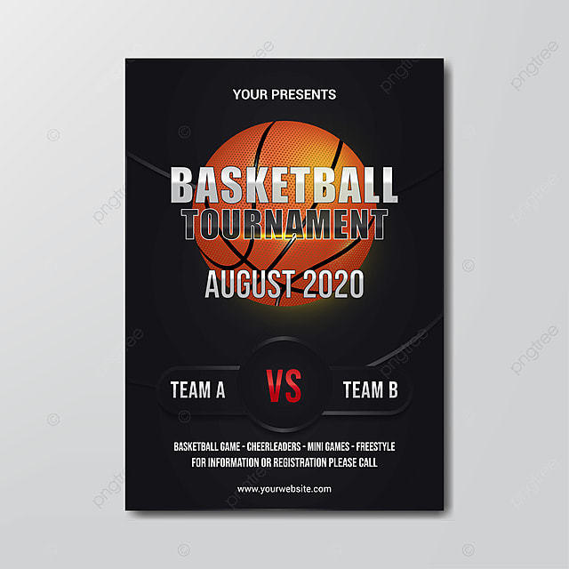 Free Basketball Tournament Flyer Template from png.pngtree.com