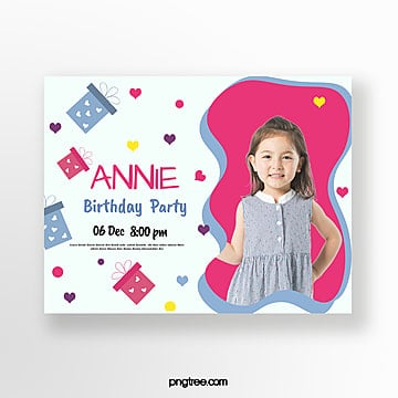 Birthday Party Invitation Card Png Images Vector And Psd