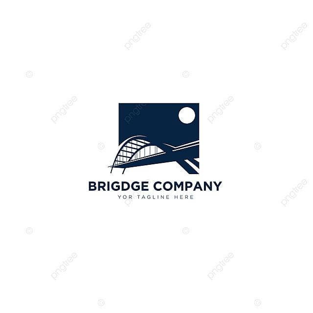 Gambar Reka Bentuk Logo Syarikat Jambatan Untuk Logo Bangunan Kontraktor Templat Untuk Muat Turun Percuma Di Pngtree