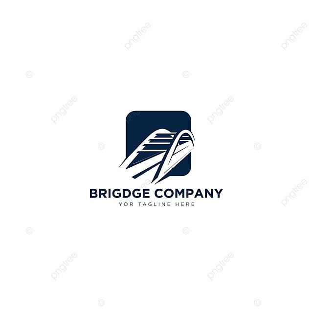 Gambar Jambatan Logo Syarikat Reka Bentuk Ruang Negatif Untuk Pembinaan Dan Bangunan Templat Untuk Muat Turun Percuma Di Pngtree