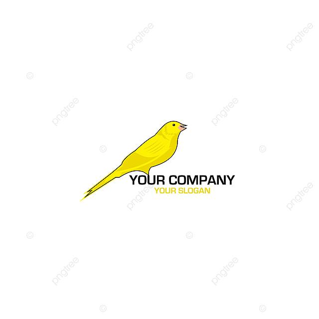 Vektor Desain Logo Burung Kenari Templat Untuk Unduh Gratis Di Pngtree