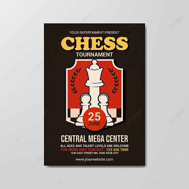 Chess Club Flyer Template from png.pngtree.com