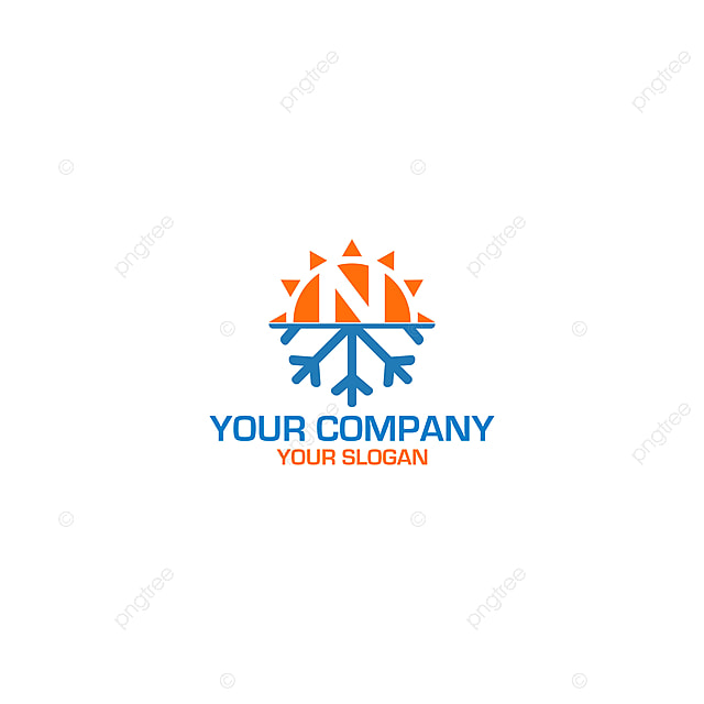 Luxury Letter N Logo Design:  N Hvac Logo Design Vector Template For Free Download On